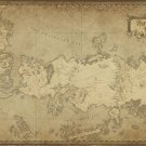 "Game of Thrones Westeros The Known World Map 18""x28"" (45cm/70cm) Canvas Print"