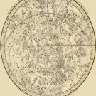"Stereographic Projection of the Southern Celestial Hemisphere 18""x28"" (45cm/70cm) Canvas Print"