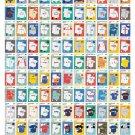 "A Visual Compendium of Baseball Uniforms Chart  18""x28"" (45cm/70cm) Canvas Print"