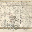 "Alexander Jamieson Celestial Atlas Chart  18""x28"" (45cm/70cm) Canvas Print"