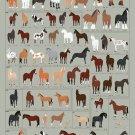 "Different Types of Horses Chart 18""x28"" (45cm/70cm) Canvas Print"