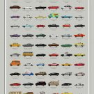 """Filmography of Cars Chart 18""""x28"""" (45cm/70cm) Poster"""