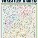 "The Titanic Taxonomy of Wrestler Names Chart 18""x28"" (45cm/70cm) Canvas Print"