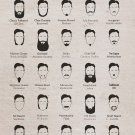 """Typography Beard Guide Chart 18""""x28"""" (45cm/70cm) Poster"""