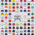 "A Visual Compendium of Hockey Jerseys Chart 18""x28"" (45cm/70cm) Canvas Print"