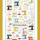 "Make it Homemade with KitchenAid Mixer Chart 18""x28"" (45cm/70cm) Canvas Print"