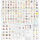 """South Park Characters Charted Chart 18""""x28"""" (45cm/70cm) Canvas Print"""