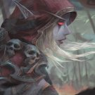 "World of Warcraft Sylvanas Windrunner  18""x28"" (45cm/70cm) Canvas Print"