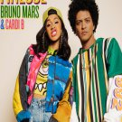 "Bruno Mars Finesse Remix Cardi B 13""x19"" (32cm/49cm) Polyester Fabric Poster"