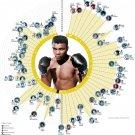 "Muhammad Ali  18""x28"" (45cm/70cm) Canvas Print"