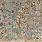"""Map of Ancient Europe Principal Streets and Places   18""""x28"""" (45cm/70cm) Canvas Print"""