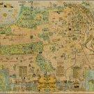 "San Francisco Map Principal Streets and Places 18""x28"" (45cm/70cm) Canvas Print"