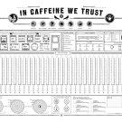 "In Caffeine We Trust Chart  18""x28"" (45cm/70cm) Canvas Print"
