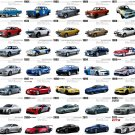 "Nissan Car Models Through the Years Chart  18""x28"" (45cm/70cm) Canvas Print"