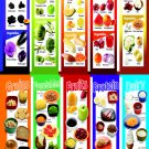"Colored Fruits and Vegetables Grains Protein Dairy Chart 18""x28"" (45cm/70cm) Canvas Print"