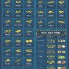 """Use your noodle Pasta Shapes Chart  18""""x28"""" (45cm/70cm) Poster"""