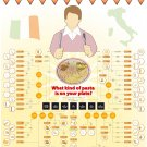 """What kind of pasta is in your plate Chart  13""""x19"""" (32cm/49cm) Polyester Fabric Poster"""