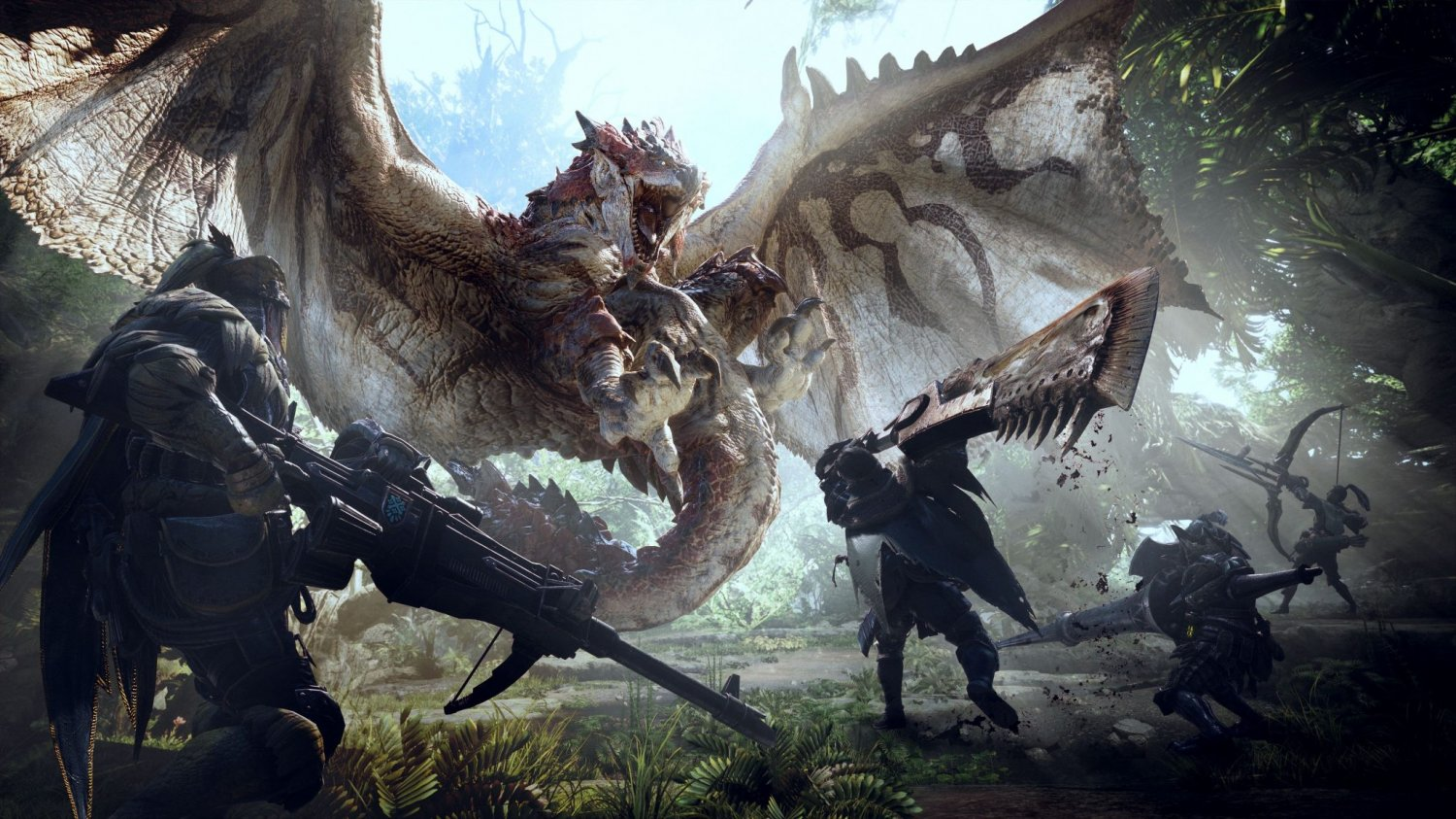"Monster Hunter World  13""x19"" (32cm/49cm) Polyester Fabric Poster"