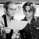 "Elton John  John Lennon  18""x28"" (45cm/70cm) Canvas Print"