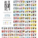"""And the Oscar Goes to Oscar Winners Through the Years Chart  18""""x28"""" (45cm/70cm) Poster"""