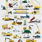 "Big Builders and Other Mighty Machines Chart  18""x28"" (45cm/70cm) Canvas Print"