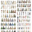"""Dress Fashion Through the Years Chart  18""""x28"""" (45cm/70cm) Canvas Print"""