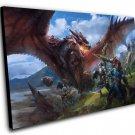"Monster Hunter Game  12""x16"" (30cm/40cm) Canvas Print"