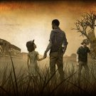 """The Walking Dead  Game  13""""x19"""" (32cm/49cm) Polyester Fabric Poster"""