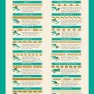 "Jamie's Italian Pasta Recipes Chart 13""x19"" (32cm/49cm) Polyester Fabric Poster"
