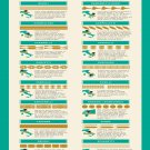 "Jamie's Italian Pasta Recipes Chart  18""x28"" (45cm/70cm) Canvas Print"