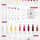 "Basic Wine Guide Chart  18""x28"" (45cm/70cm) Poster"