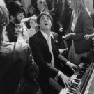 "Paul McCartney Ringo Starr   13""x19"" (32cm/49cm) Polyester Fabric Poster"