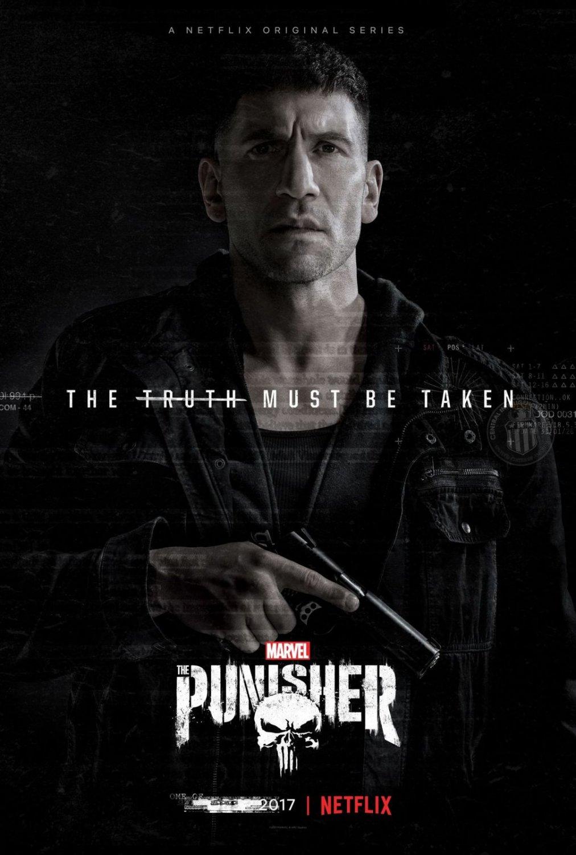 "The Punisher Netflix Frank Castle Jon Bernthal 18""x28"" (45cm/70cm) Canvas Print"