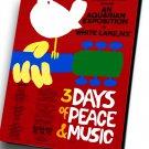 "Woodstock Festival 12""x16"" (30cm/40cm) Canvas Print"