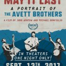 """The Avett Brothers May it Last 13""""x19"""" (32cm/49cm) Polyester Fabric Poster"""