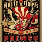 """The White Stripes Our Beers Will Rock You Brewco Concert 13""""x19"""" (32cm/49cm) Polyester Fabric Poster"""