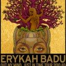 "Erykah Badu Out my mind Just in time World Tour Concert 18""x28"" (45cm/70cm) Canvas Print"