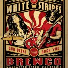 """The White Stripes Our Beers Will Rock You Brewco Concert 18""""x28"""" (45cm/70cm) Canvas Print"""