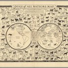 """Dogs of All Nations Map Infographic  18""""x28"""" (45cm/70cm) Canvas Print"""