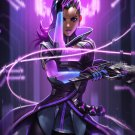 """Overwatch Sombra 13""""x19"""" (32cm/49cm) Polyester Fabric Poster"""