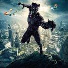 "Black Panther 2018 Movie  18""x28"" (45cm/70cm) Canvas Print"