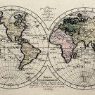 "History World Map Historische Weltkarte German 18""x28"" (45cm/70cm) Poster"