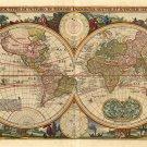 """Antique World Map 18""""x28"""" (45cm/70cm) Poster"""