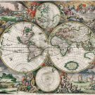 """Large Detailed Antique Political Map of the World  18""""x28"""" (45cm/70cm) Poster"""