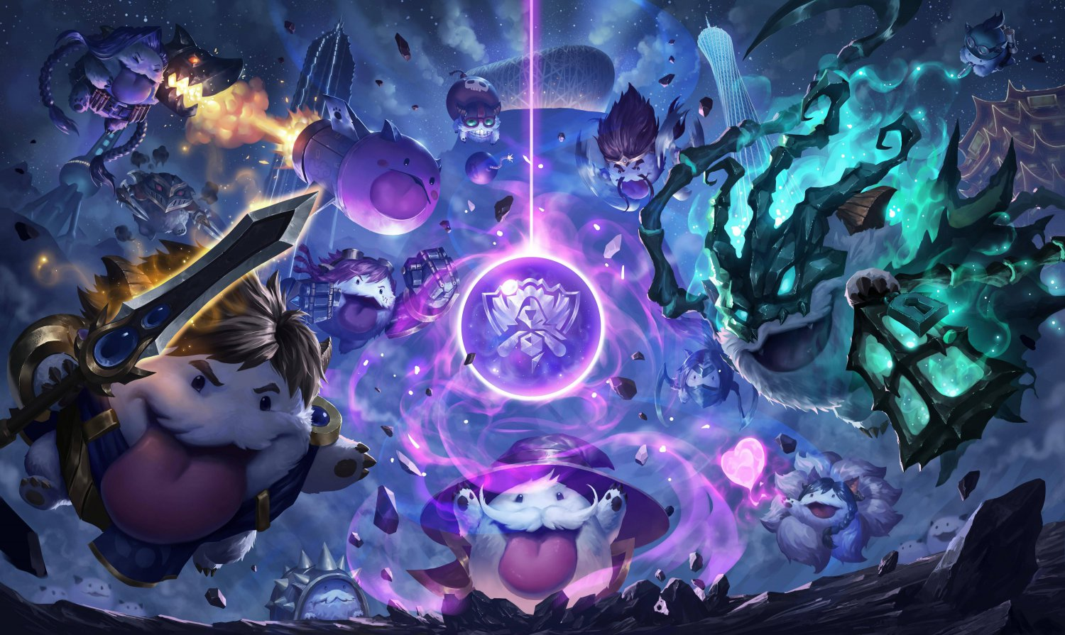 "League of Legends Champions Poros 18""x28"" (45cm/70cm) Canvas Print"