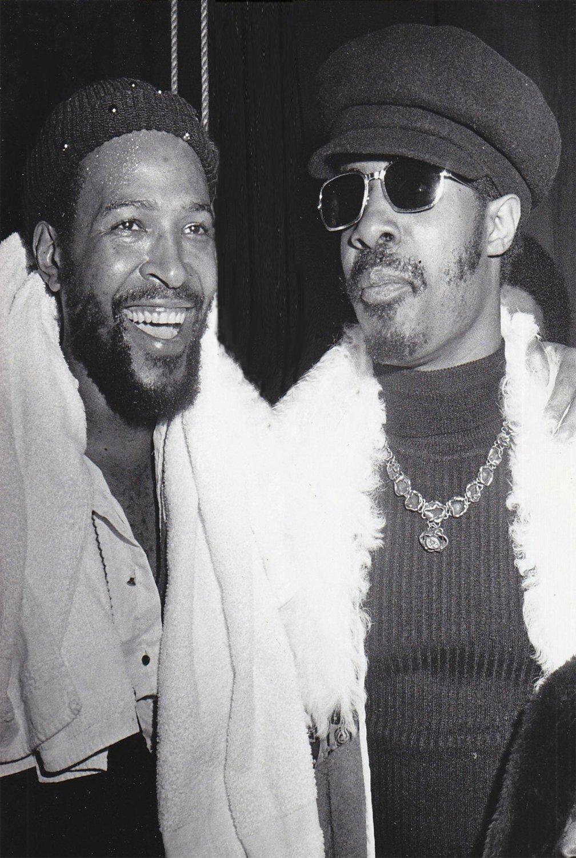 "Stevie Wonder Marvin Gaye  13""x19"" (32cm/49cm) Polyester Fabric Poster"