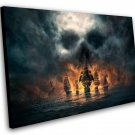 "Skull and Bones Pirate Ship Game 12""x16"" (30cm/40cm) Canvas Print"
