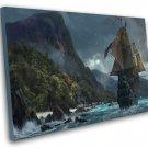 "Skull and Bones Pirate Ship Game 12""x16"" (30cm/40cm) Canvas Print"