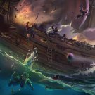 "Sea of Thieves Game 13""x19"" (32cm/49cm) Polyester Fabric Poster"