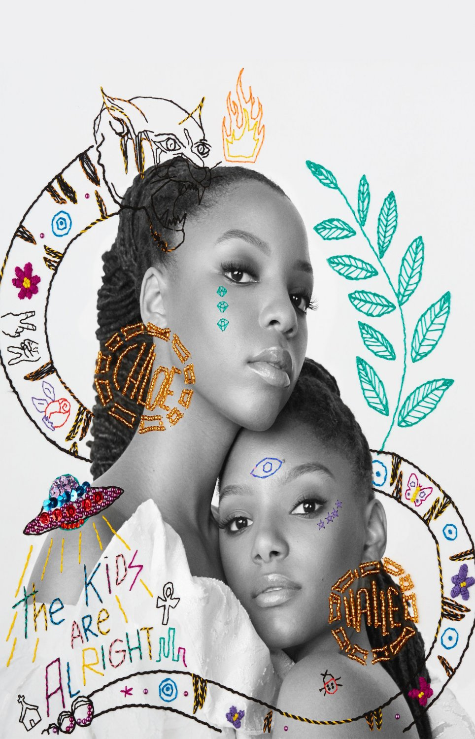 "Chloe x Halle  13""x19"" (32cm/49cm) Polyester Fabric Poster"